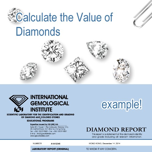 Calculator get the pricing of diamonds, current diamond prices by shape, diamond price index